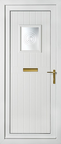 White cottage style panel with bullion glass