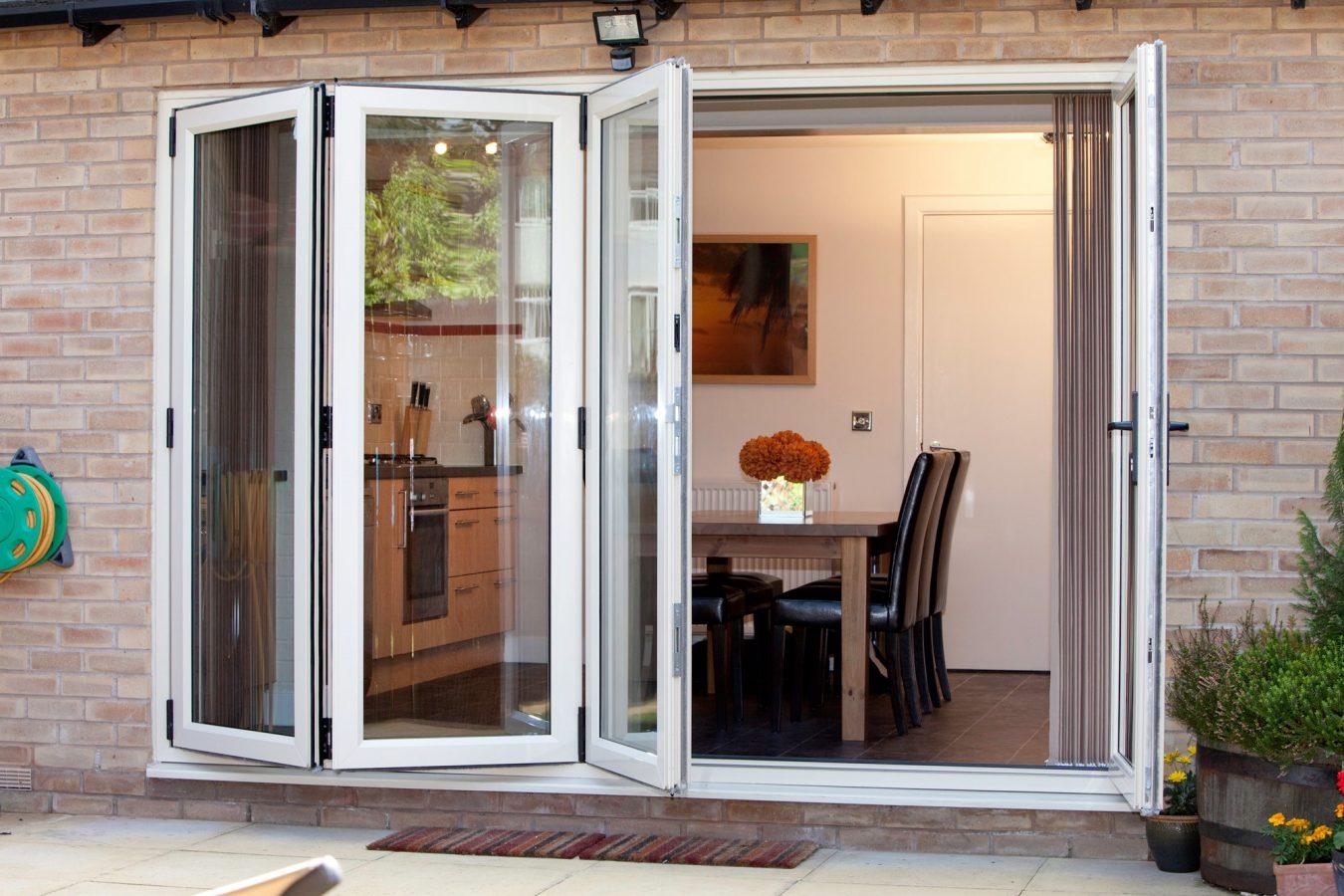 White Aluminium Bi-folding Door