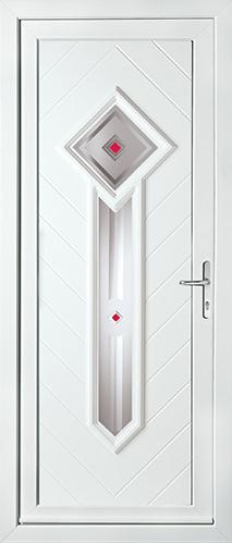 White contemporary door panel