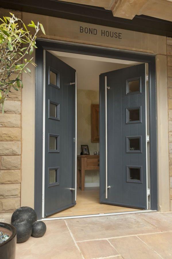 Grey Composite Double Door