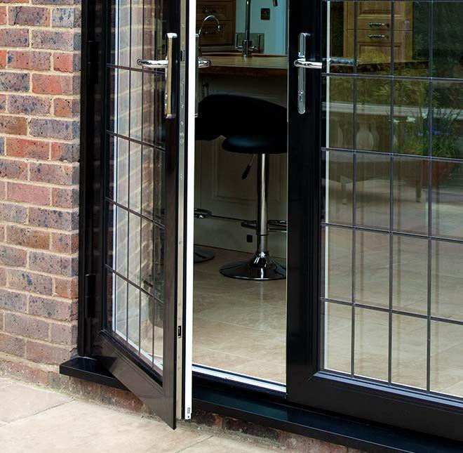 Black uPVC Double Doors