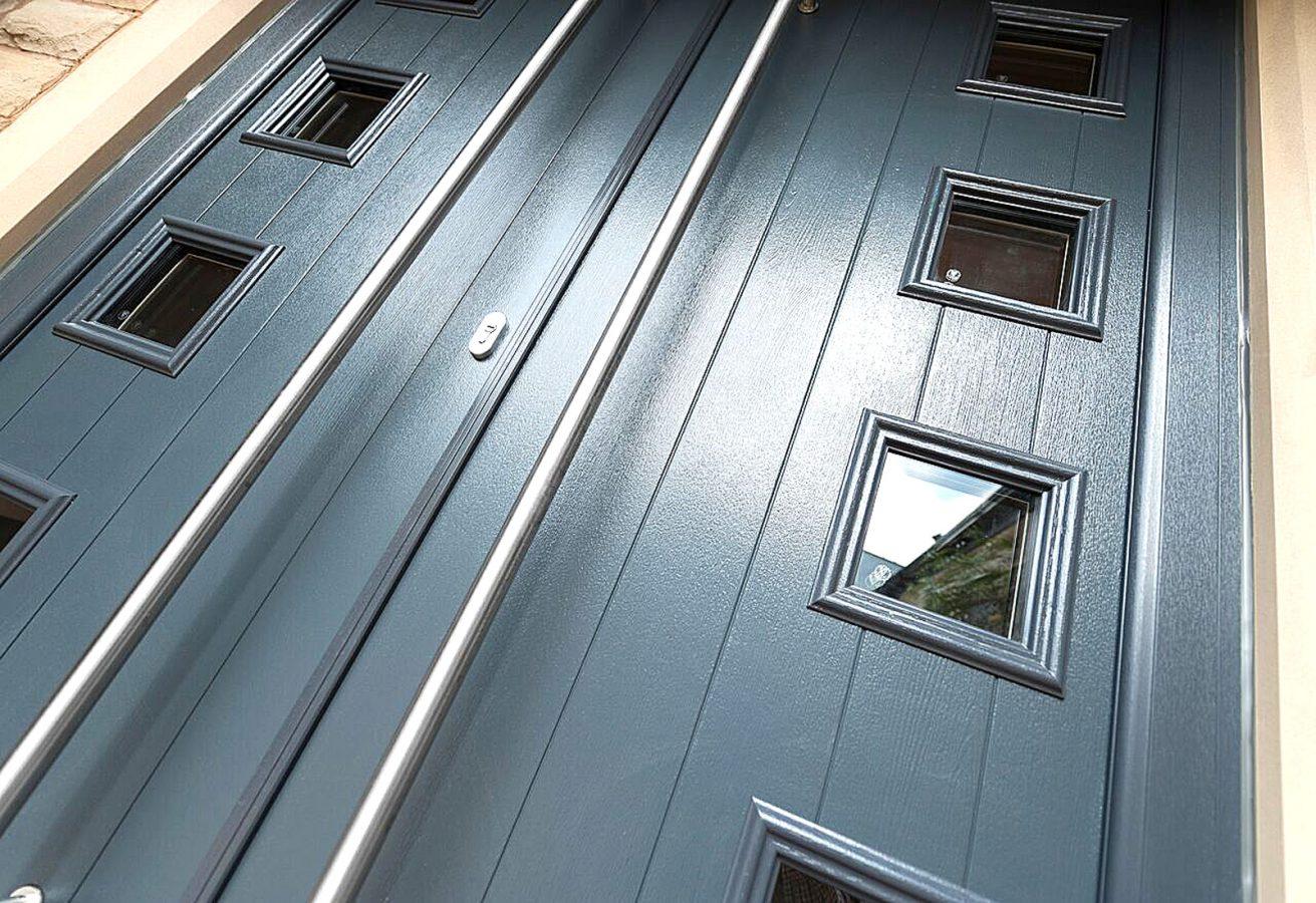Grey Composite Double Doors