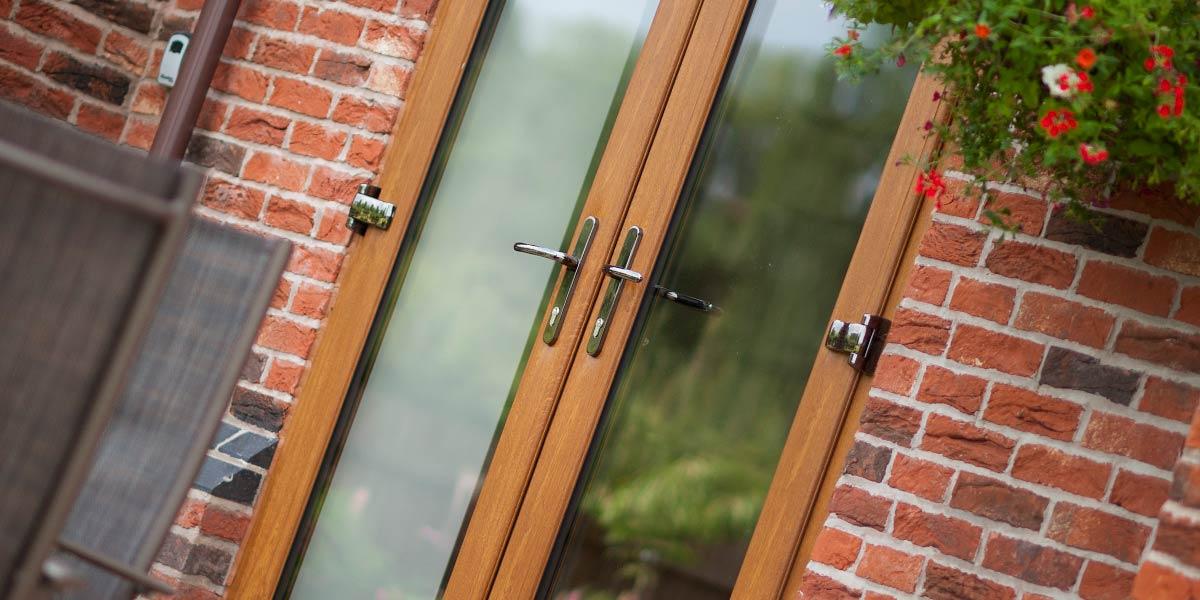Light Oak uPVC Double Doors