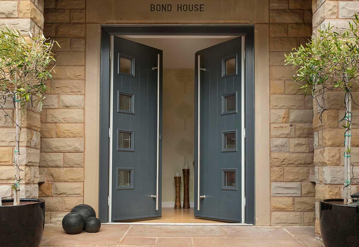 Grey Double Doors