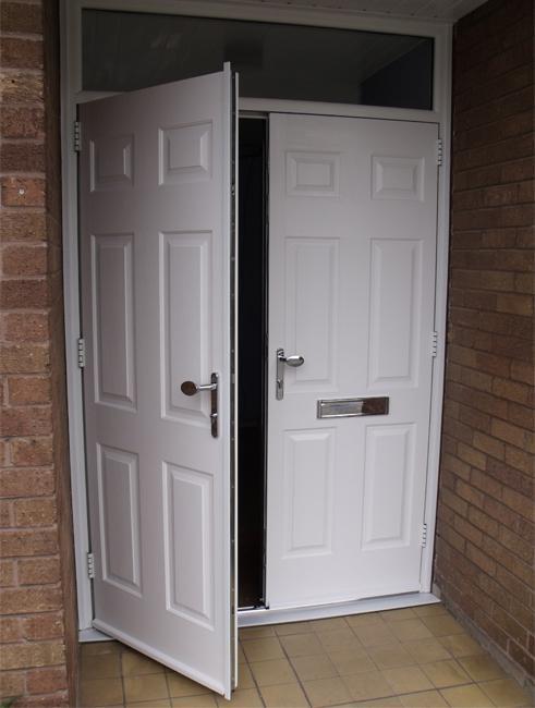 White Composite Double Doors