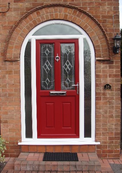 Arched Red Door