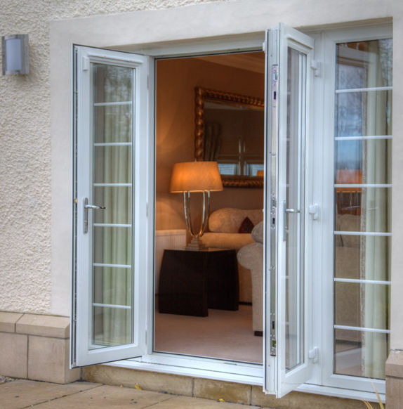 White uPVC Double Doors