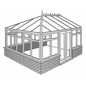 Edwardian Conservatory Line Drawing