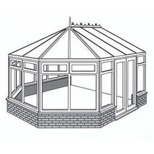 Victorian Conservatory Line Drawing